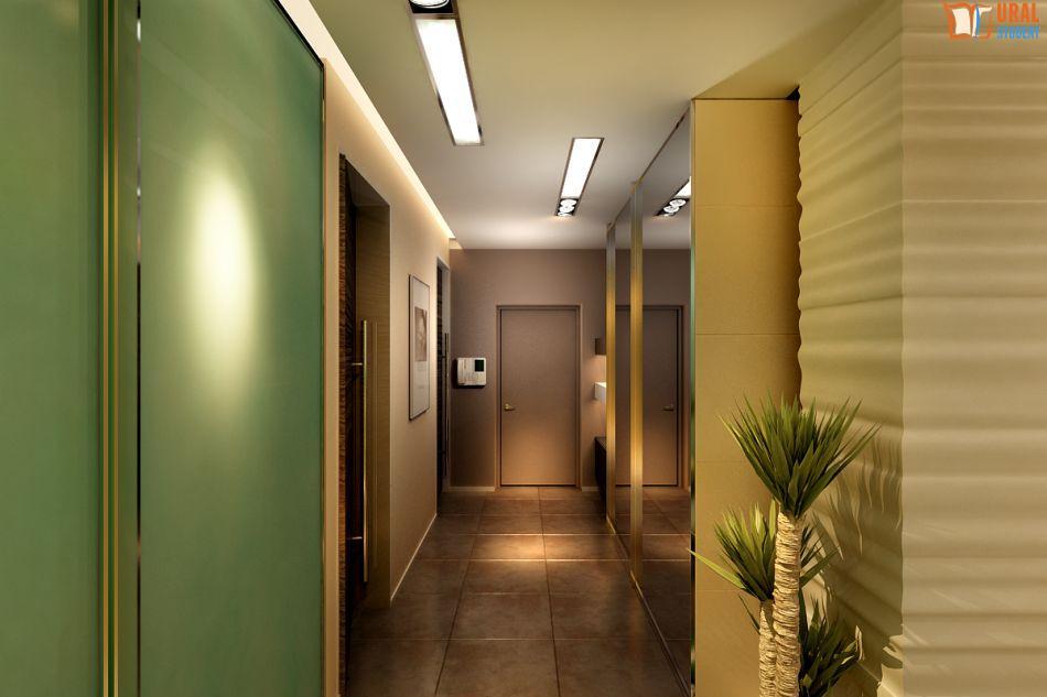 Интерьер прихожей в квартире освещение.
