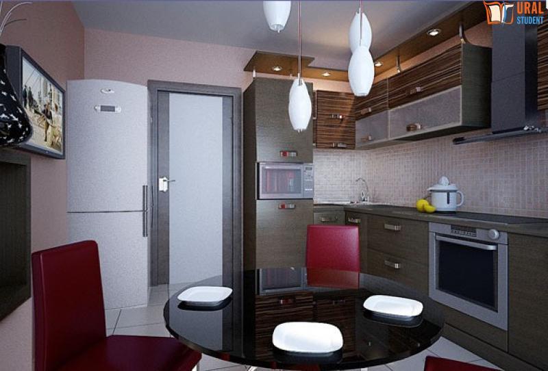 Дизайн кухни в доме серии п-44 дизайн кухни - фото, описание.