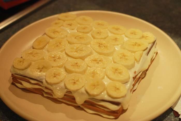Сметана банан выпечка